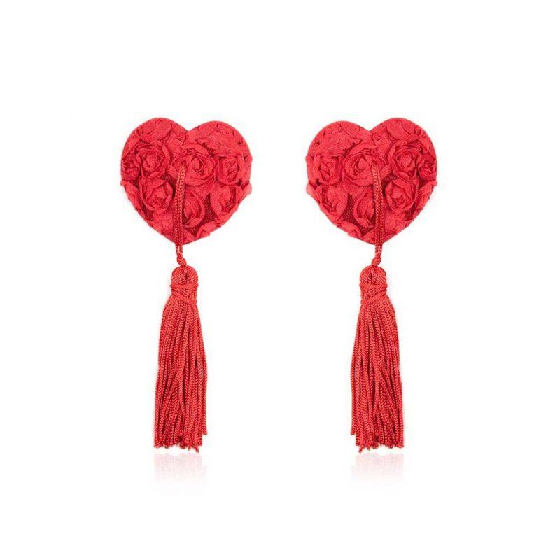 pezoneras burlesque corazon rojas
