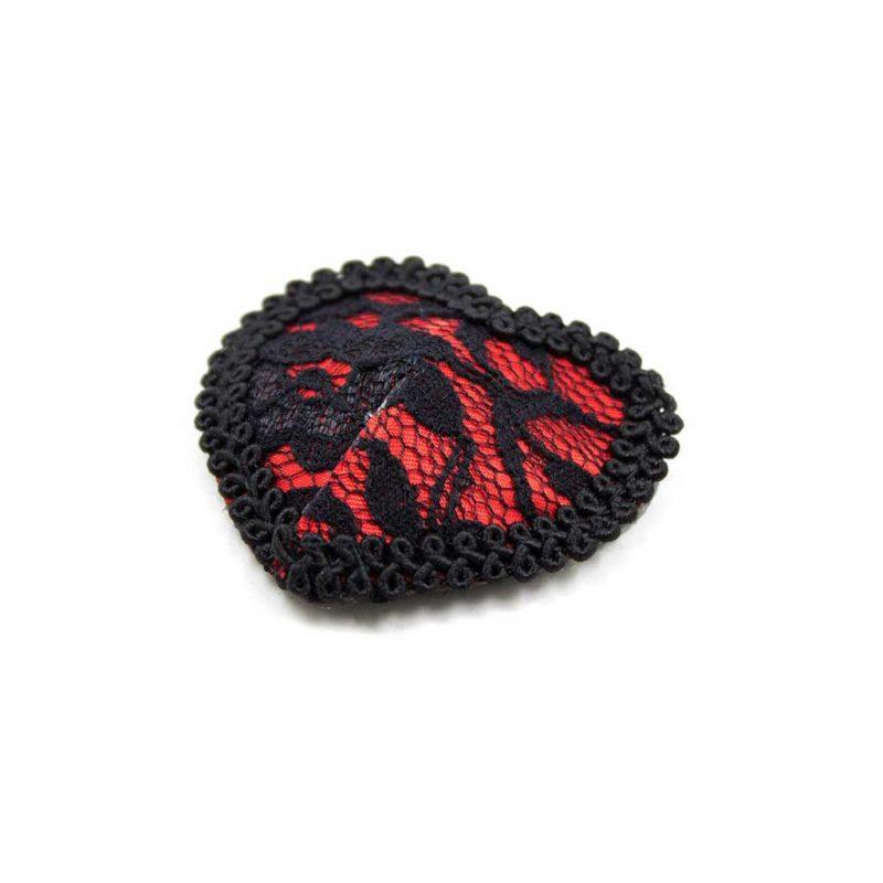 pezoneras encaje rojo y negro 2