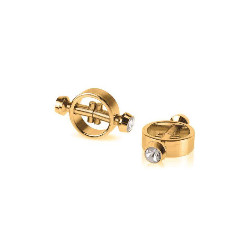 pinzas para pezones magneticas doradas