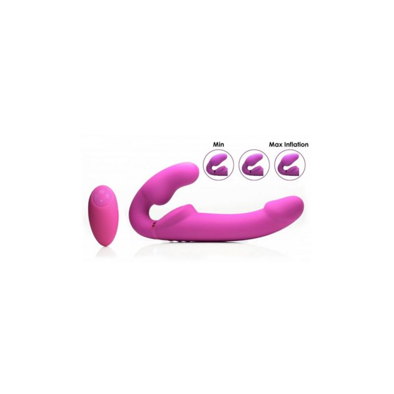 inflatable vibrador doble funcion inflable color rosa 1
