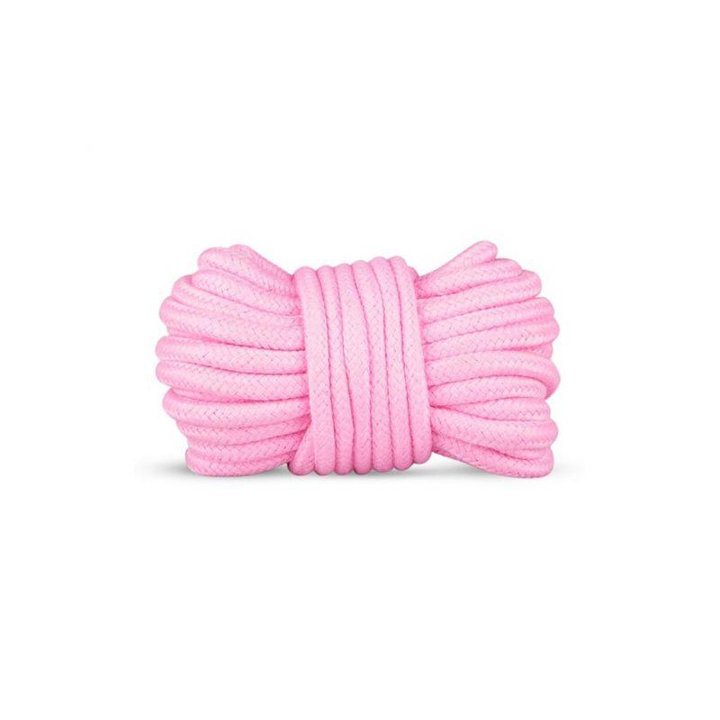 kit secret pink pleasure set de bondage rosa cuerda