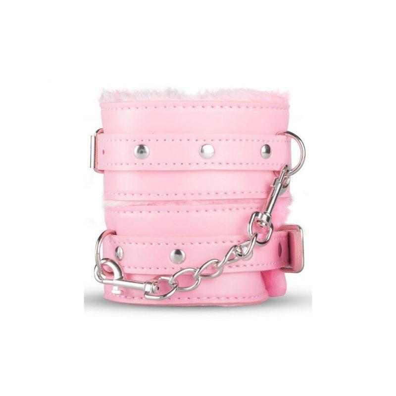 kit secret pink pleasure set de bondage rosa esposas
