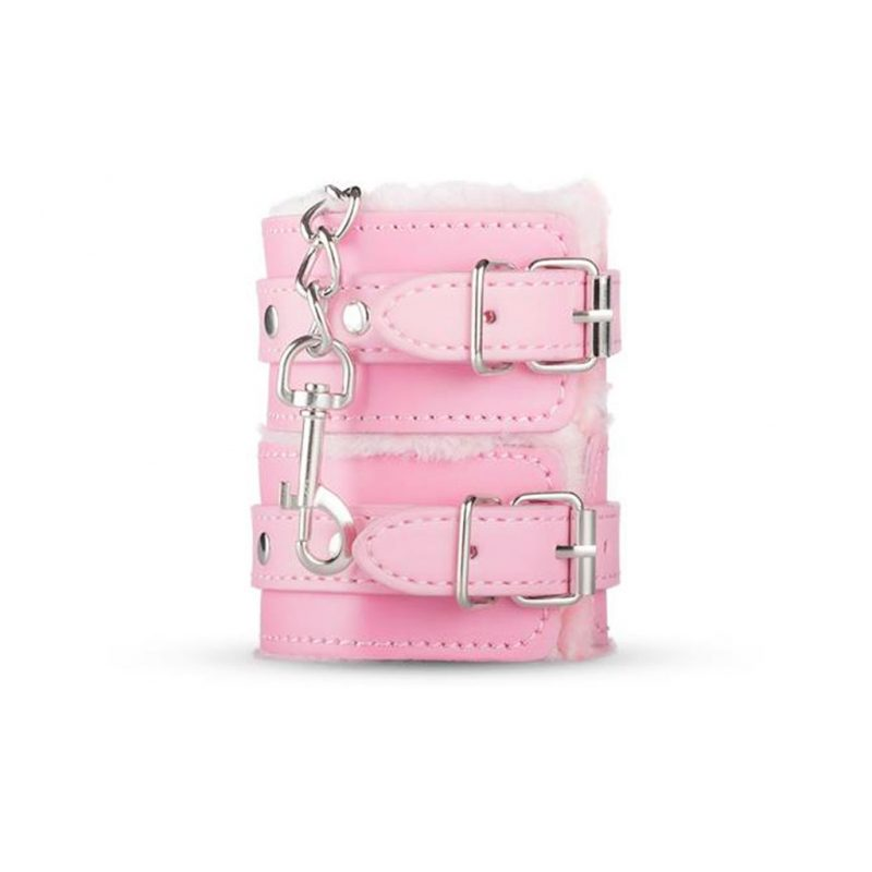 kit secret pink pleasure set de bondage rosa esposas tobilleras
