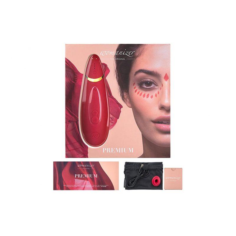 Womanizer Premium Succionador de Clitoris rojo vino 4