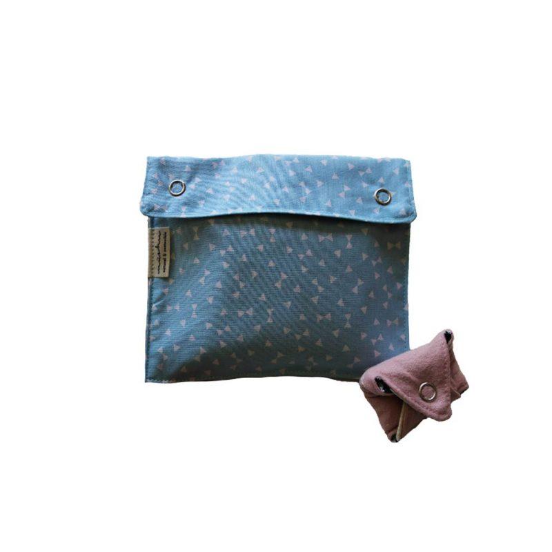 bolsa transporte para compresas celeste
